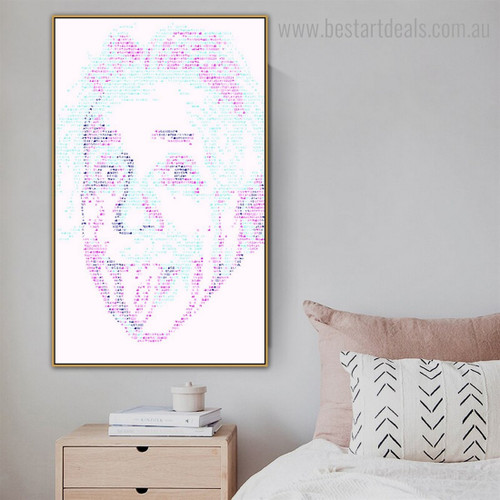 Dapple Albert Einstein Abstract Modern Framed Portraiture Photo Canvas Print for Room Wall Decoration