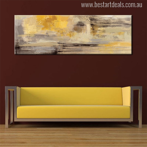 Abstract Golden Painting Canvas Print for Wall Hanging