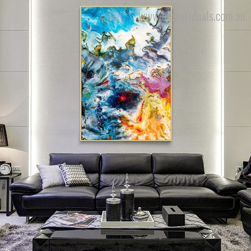 Motley Art Abstract Framed Painting Photo Canvas Print for Room Wall Embellishment