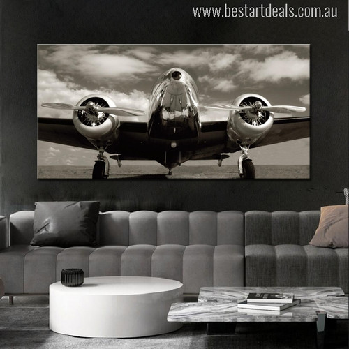 Classic Vintage Airplane Wall Art Picture Print for Living Room Decoration
