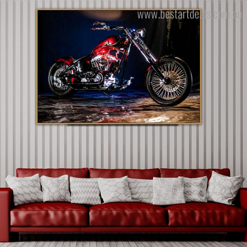 Red Chopper Still Life Modern Framed Painting Photo Canvas Print for Wall Outfit