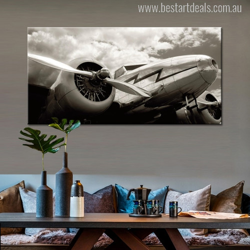Classic Vintage Aircraft Wall Art Picture Print for Living Room Art