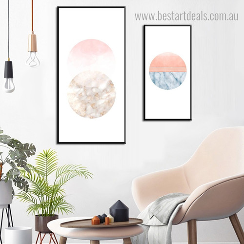Spherical Marble Abstract Modern Framed Artwork Pic Canvas Print for Room Wall Getup