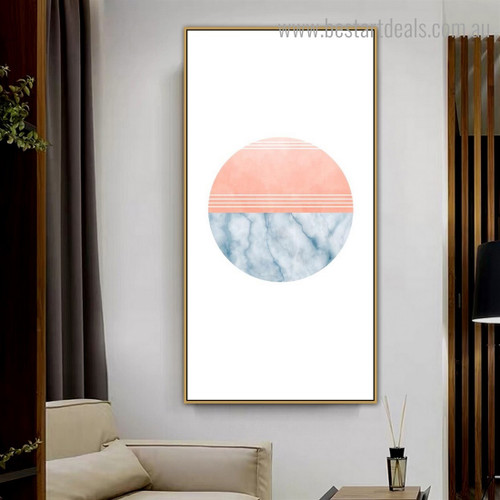 Spheroidal Marble Abstract Modern Framed Painting Picture Canvas Print for Wall Decoration