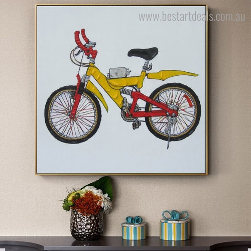 Sports Bike Abstract Modern Framed Painting Photo Canvas Print for Room Wall Decoration