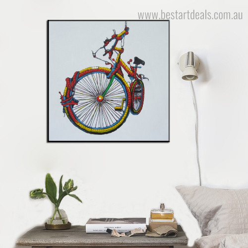 Colorful Cycle Abstract Modern Framed Artwork Pic Canvas Print for Room Wall Ornament