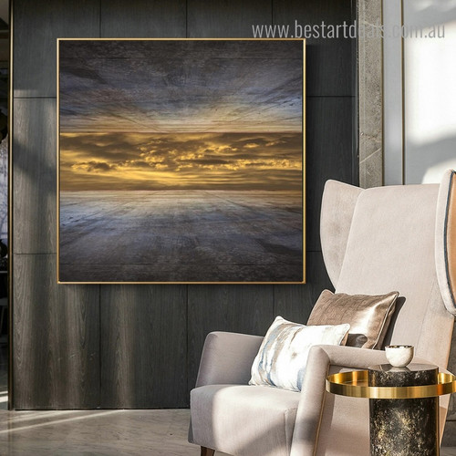 Sky High Outside Abstract Landscape Framed Portraiture Image Canvas Print for Room Wall Outfit