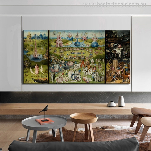 The Garden of Earthly Delights Painting Print for Entrance and Hallway