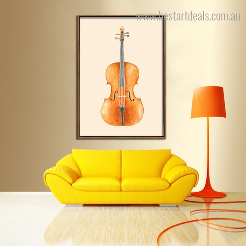 Big Guitar Music Digital Framed Painting Picture Canvas Print for Room Wall Decoration