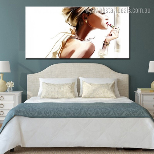 Pretty Girl Abstract Figure Framed Artwork Portrait Canvas Print for Room Wall Getup