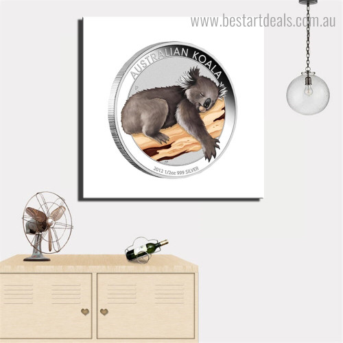 Australian Koala Animal Modern Framed Painting Image Canvas Print for Room Wall Onlay
