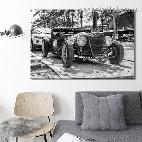 Classic Antique Cars Abstract Vintage Framed Painting Picture Canvas Print for Room Wall Onlay