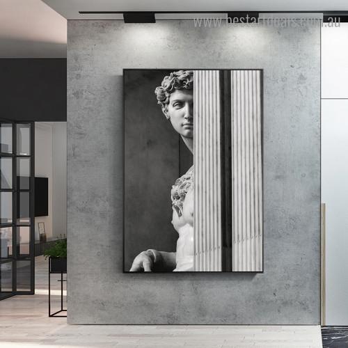 David Sculpture Figure Modern Framed Artwork Portrait Canvas Print for Room Wall Finery