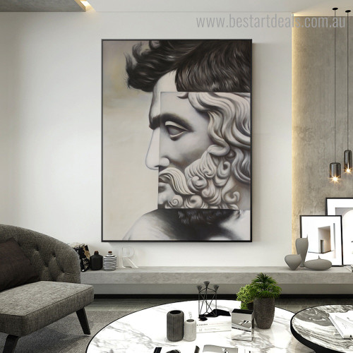 Human Statue Figure Modern Framed Artwork Picture Canvas Print for Room Wall Garniture