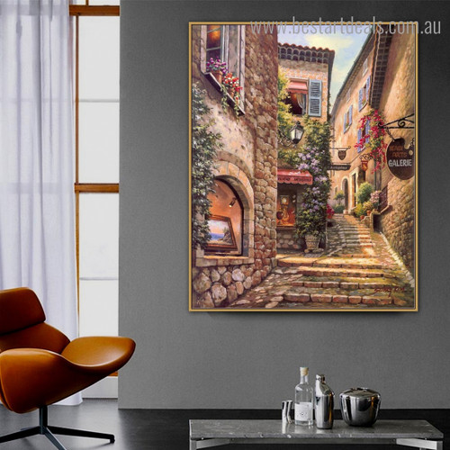 Venice Town Landscape Cityscape Modern Framed Artwork Image Canvas Print for Room Wall Molding