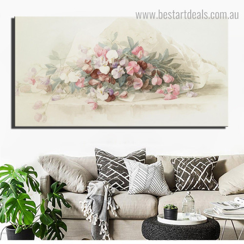 Dapple Bouquet Abstract Floral Modern Framed Portraiture Image Canvas Print for Room Wall Assortment