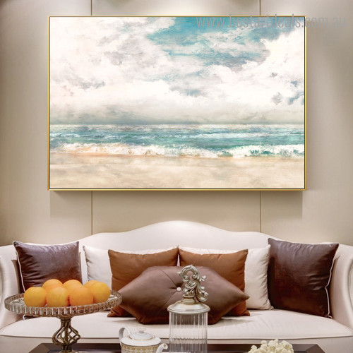 Seascape Scenery Abstract Nature Framed Artwork Image Canvas Print for Room Wall Decoration