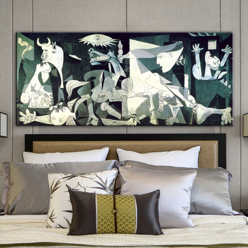 Guernica Pablo Picasso Reproduction Framed Painting Portrait Canvas Print for Room Wall Decor