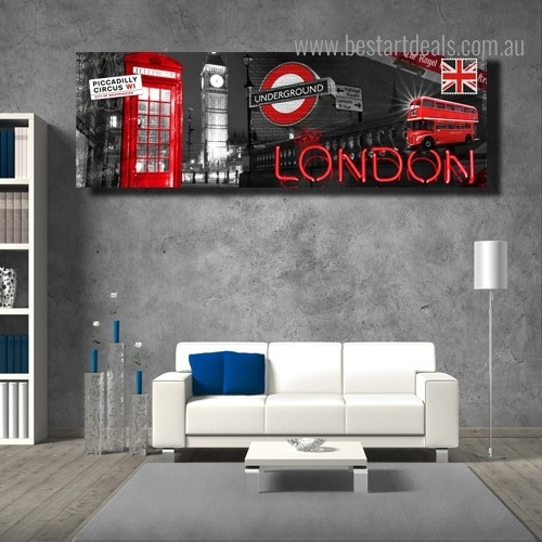 Big Ben London Cityscape Modern Framed Painting Pic Canvas Print for Room Wall Garnish