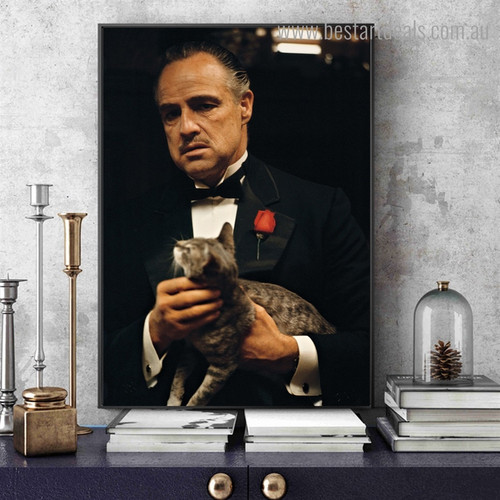 Marlon Brando Hollywood Contemporary Framed Artwork Photo Canvas Print for Room Wall Tracery