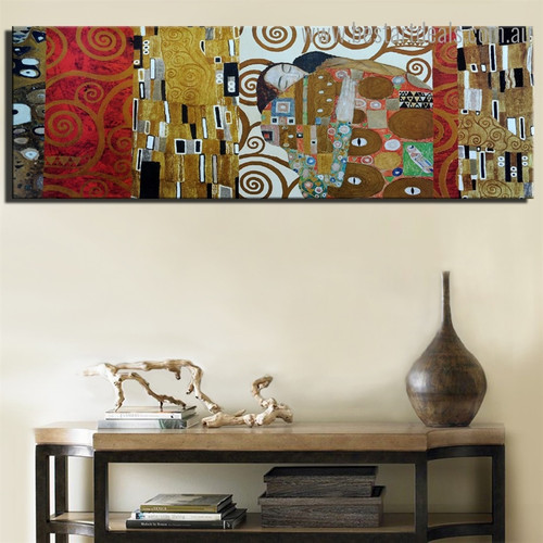 Frieze of Villa Gustav Klimt Figure Framed Painting Photo Canvas Print for Room Wall Assortment