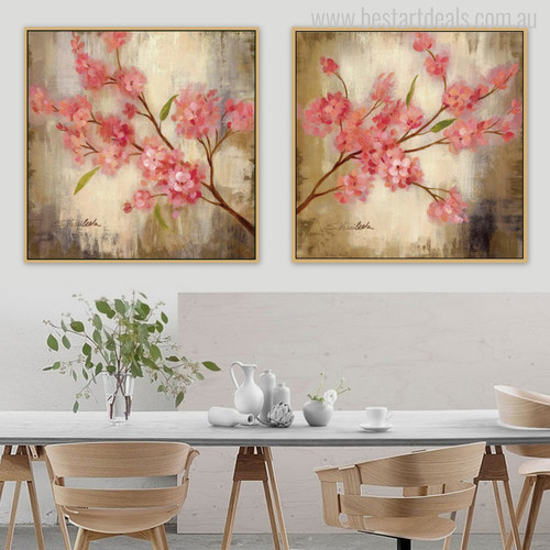 Sakura Flowers Painting Print for Wall Art