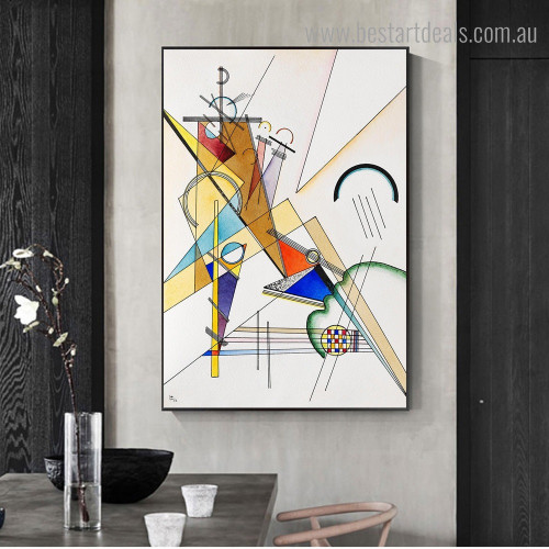 Gewebe 1923 Wassily Kandinsky Abstract Framed Painting Image Canvas Print for Room Wall Decor