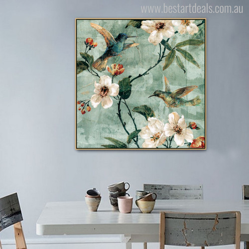 Hummingbird Gorgeous Traditional Painting Print for Wall Decor