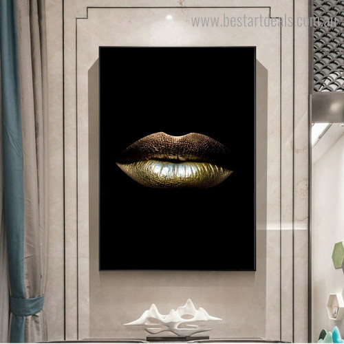 Sexy Lips Abstract Modern Framed Portraiture Pic Canvas Print for Room Wall Disposition
