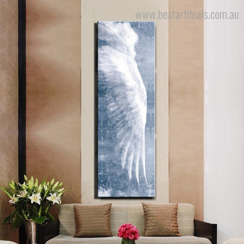 Flying Wing Abstract Modern Framed Smudge Picture Canvas Print for Room Wall Decor