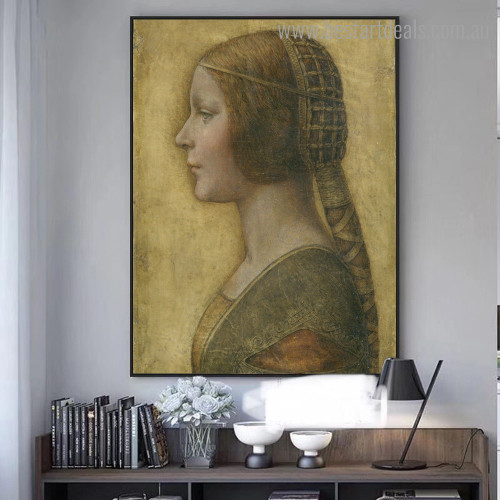 La Bella Renaissance Figure Framed Smudge Image Canvas Print for Room Wall Assortment