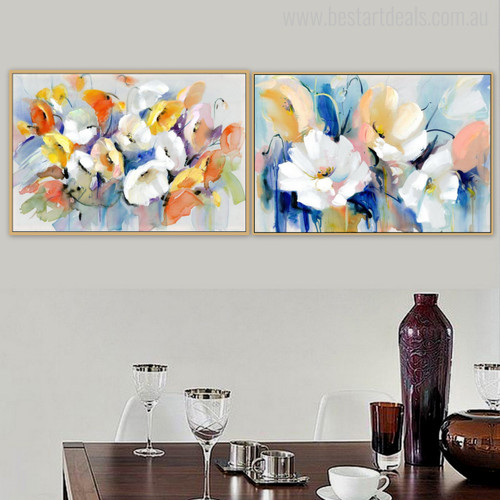 Real Poppy Flowers Wonderful Painting Print for Wall Decor