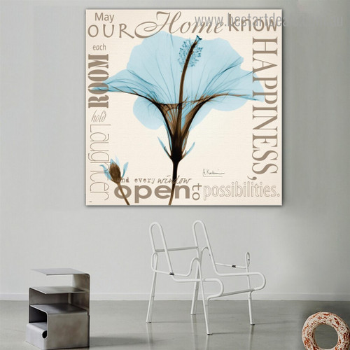 Know Botanical Quote Framed Effigy Picture Canvas Print for Room Wall Getup