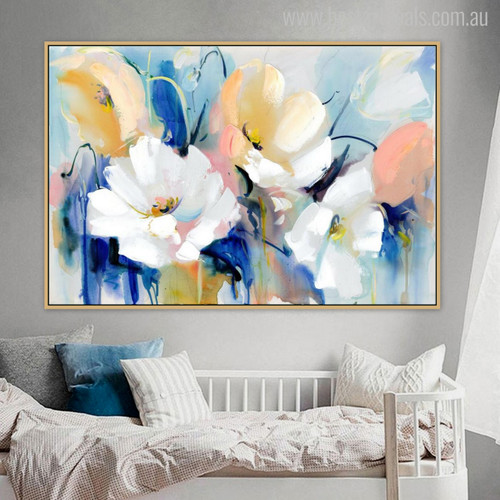 Poppies Watercolor Painting Print for Wall Hanging