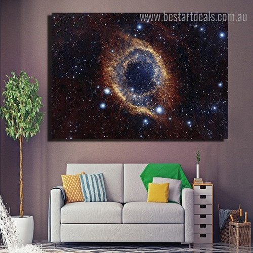 Cosmic Nebula Landscape Modern Framed Painting Portrait Canvas Print for Room Wall Outfit