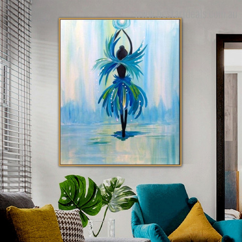 Fairy Dress Abstract Figure Framed Painting Image Canvas Print for Room Wall Finery
