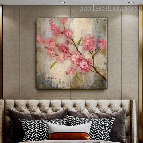 Wonderful Plum Blossoms Abstract Floral Modern Framed Artwork Photo Canvas Print for Room Wall Garniture
