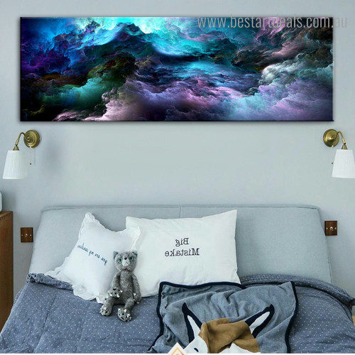 Dark Shiny Clouds Abstract Modern Framed Painting Photo Canvas Print for Room Wall Onlay