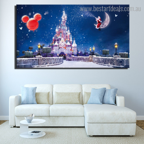Christmas Religious Framed Painting Picture Canvas Print for Room Wall Onlay