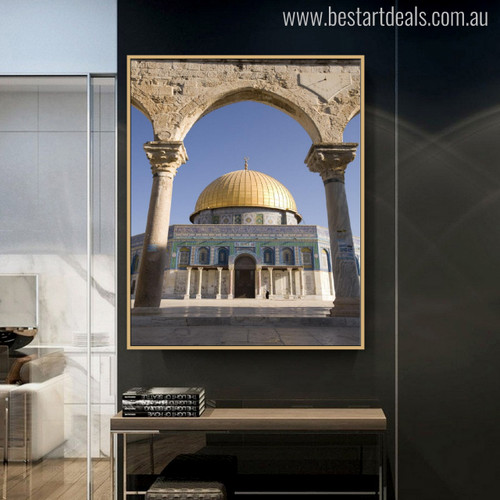 Dome of the Rock Mosque Picture Canvas Print