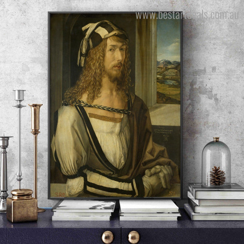Self Portrait Reproduction Figure Framed Painting Pic Canvas Print for Room Wall Decoration