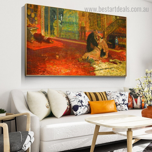 Terrible and Son Reproduction Framed Painting Picture Canvas Print for Room Wall Outfit