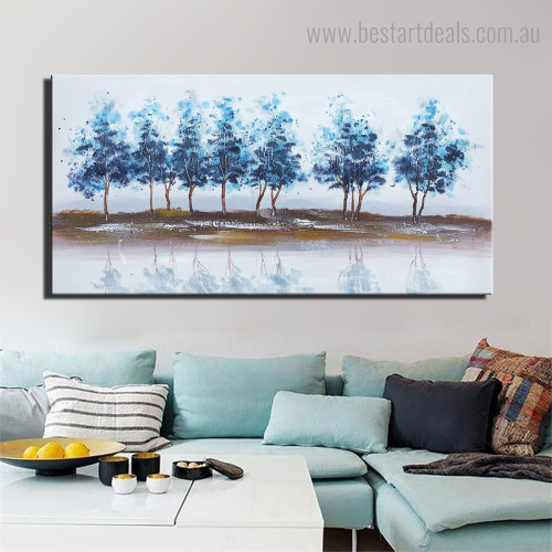 Blue Arbors landscape Framed Artwork Photograph Canvas Print for Room Wall Finery