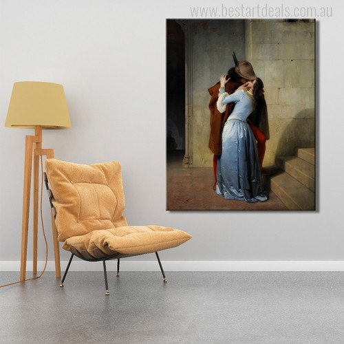 Kiss is an 1859 Painting Canvas Print for Room Decor