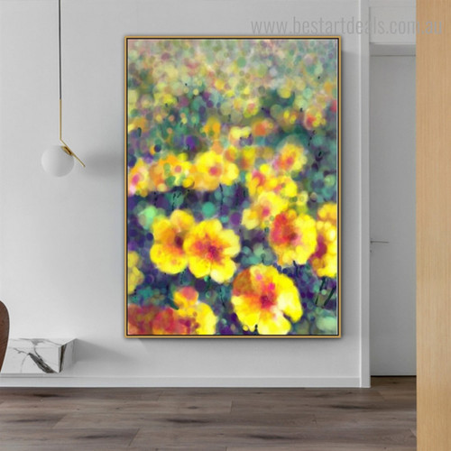 Wonderful Garden Abstract Botanical Framed Painting Photo Canvas Print for Room Wall Assortment