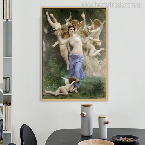 The Song of The Angels Painting Print for Dining Room Wall Art