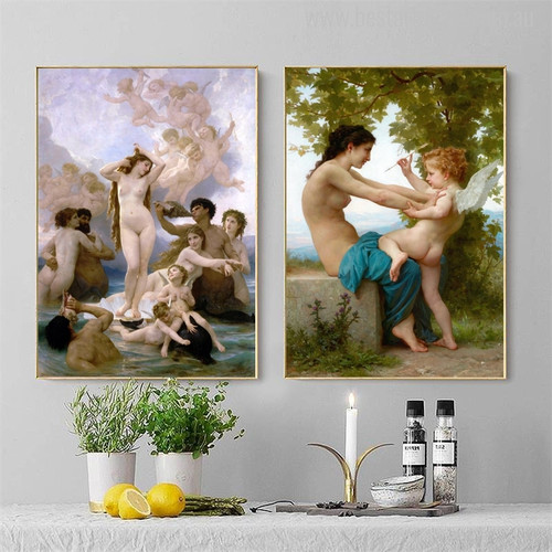 Virgin Angels Canvas Wall Art Print