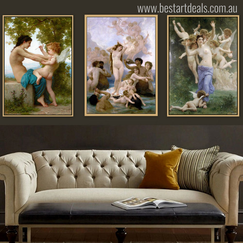 Nude Angels Painting Print for Living Room Decor