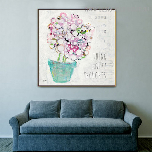 Thoughts Abstract Modern Framed Painting Image Canvas Print for Room Wall Disposition