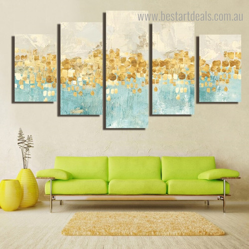Vivid Spots Abstract Modern Painting Image Canvas Print for Room Wall Ornamentation